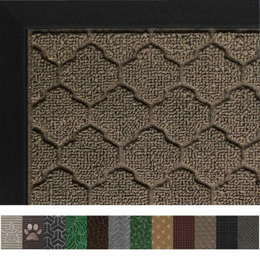 Rubber Waterproof Doormats Indoor Outdoor Heavy Doormat