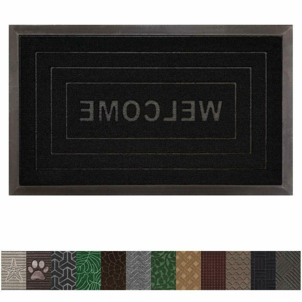 Rubber Door Mat Doormats Heavy Duty New