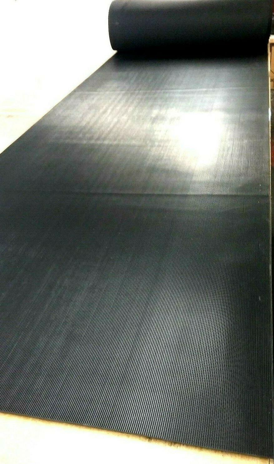 """Rubber Mat Stair 1/8"""" Thk x 7"""" x 24"""" Corrugated x"""