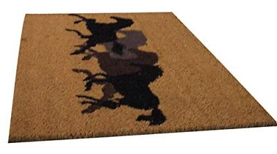Silhouetted Galloping Coir Door 29 1/2 Inch