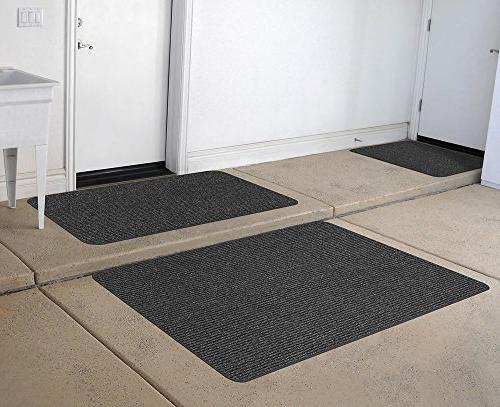 House, Home Skid-Resistant - Charcoal Black 3' x 6'