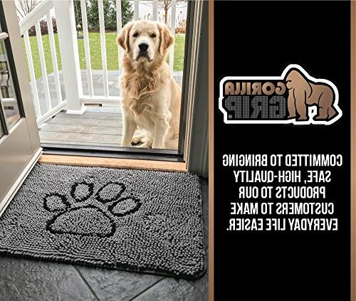 Gorilla Grip Original Indoor Durable Chenille Doormat, Machine Low-Profile Doormats Entry, Mud Room, Door, High Traffic Areas