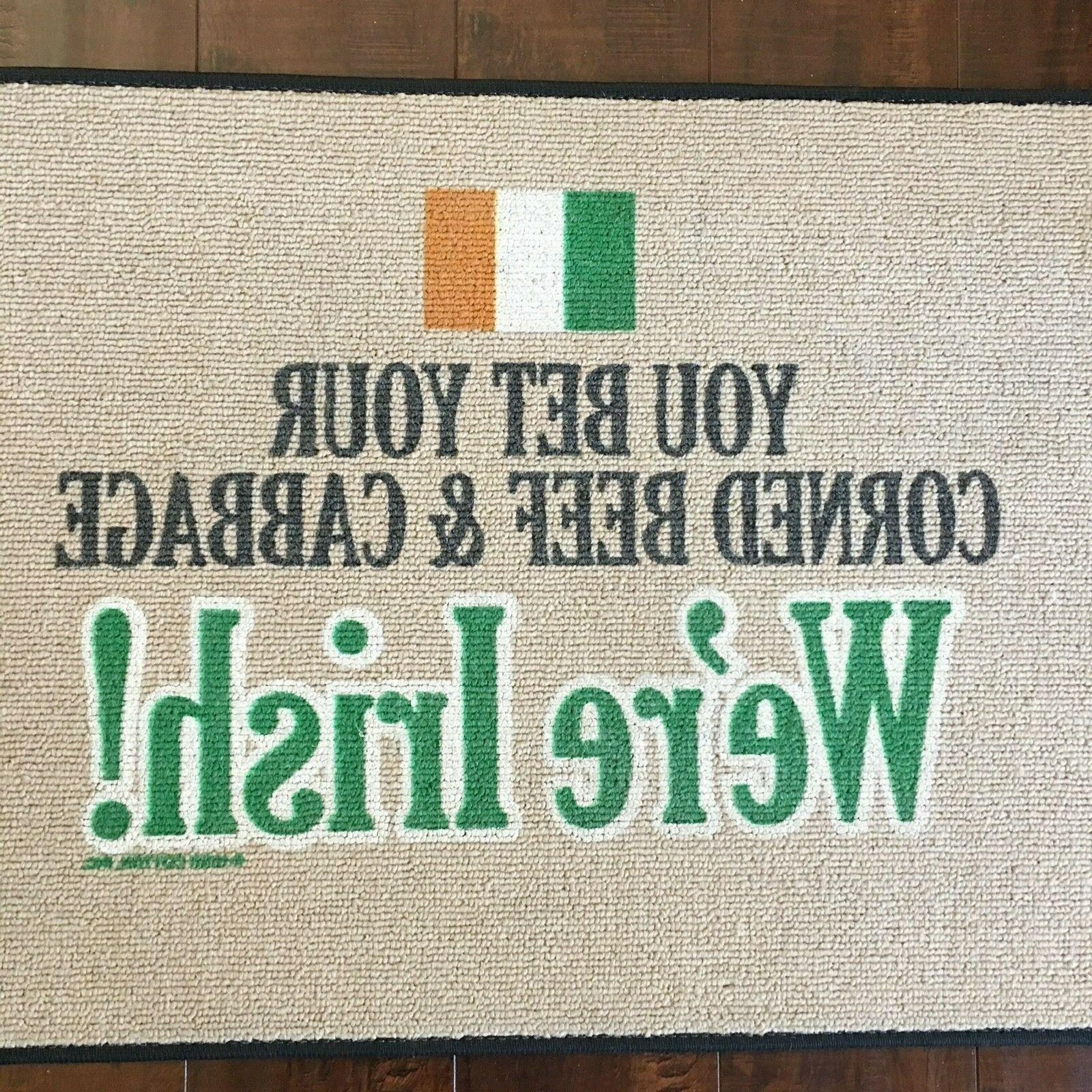 St Patrick's Day Mat X Funny Welcome Mat
