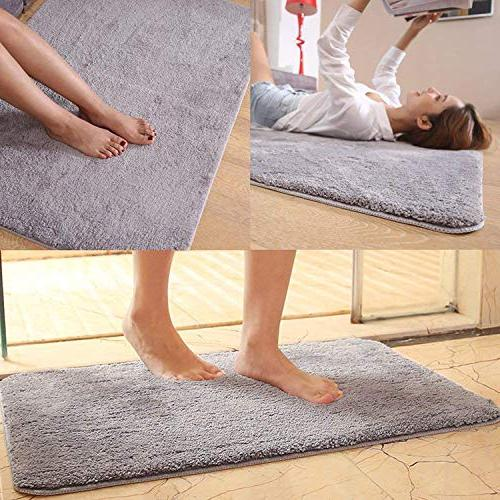 "Pruk Non Slip 35""x23.6"" Mud Floor Rug,Absorbent Shoes Washable"