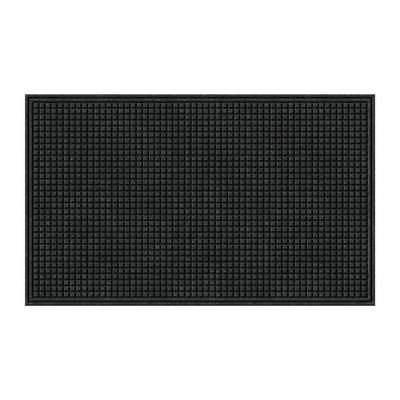 Apache Mills Textures Squares Entrance Door Mat, Onyx, 3-Fee