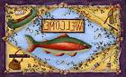 Toland Rainbow Trout 18 x 30 Decorative Outdoors Welcome Fis