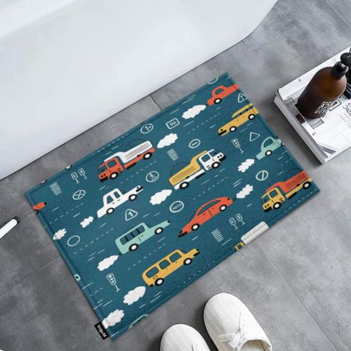Mugod Doormat Cartoon Transportation Pattern