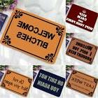 US 40*60cm Letter Funny Welcome Doormat Indoor/Outdoor Rubbe