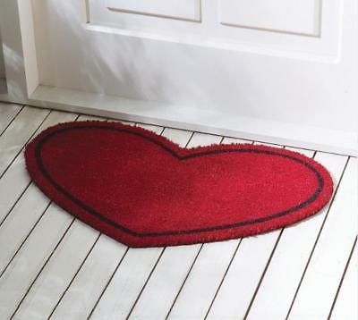 Valentine's Day Wedding Heart Shaped Door Mat w/ Rubber Back