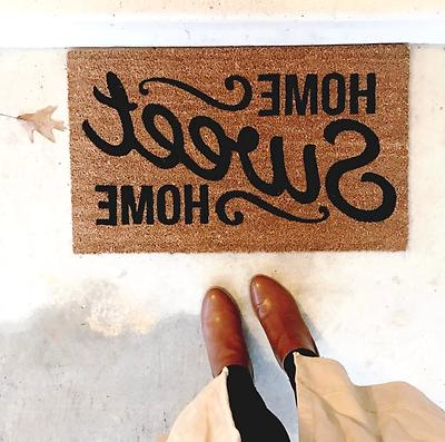 Welcome Home Home Doormat Outdoor Front Entrance Decor