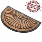Welcome Mat Front Back Door Outdoor Doormat Round Half Moon