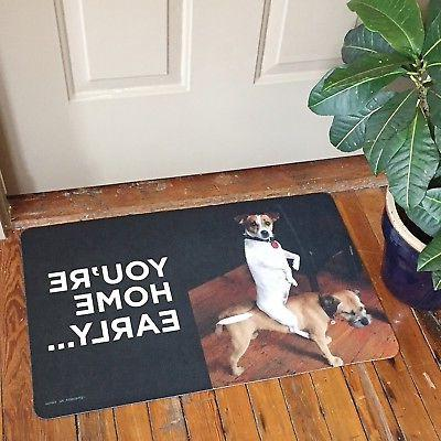 """High Early Doormat - Dog Welcome 27"""" x 17"""""""