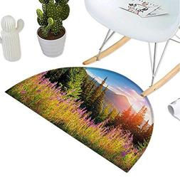 Landscape Half Round Door mats Fall Landscape Picture in Mou