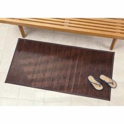 Wood Door Mat Large 24 x 48 In Hall Kitchen Bamboo Floor Run