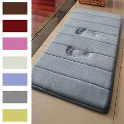 MEMORY FOAM Bath Mat Doormat Entrance Rug Anti-Slip Indoor O