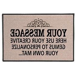 Your Message Here Personalize Your Own Custom Doormat - Indo
