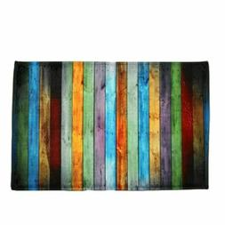 Modern Non-slip Door Mat Color Stripe Doormat Kitchen Hallwa