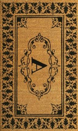 nuLOOM Monogrammed Outdoor Welcome Door Mat Rug Natural Fibe