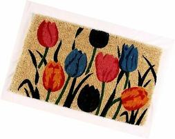 Kempf Multi Tulip Natural Coco Doormat, 18 by 30 by 1-Inch c