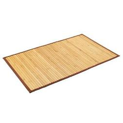 Natural Bamboo Floor Mat 21 x 34 Skid Resistant For Bathroom