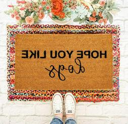 Natural Coco Coir Doormats for Outside with Heavy Duty Weath
