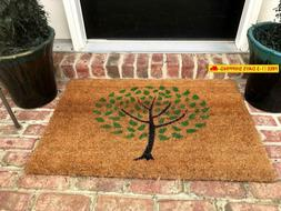 Natural Coir Non Slip Tree Floor Entrance Door Mat Indoor/Ou
