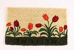 NEW Kempf Welcome Tulip Natural Coco Doormat 18 by 30 1 Inch