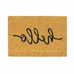 Door Mat Non-Slip PVC Coir, 40 x 60cm - Hello - Indoor Welco