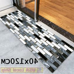 Non-Slip Fake Tile Bricks Mat Bedroom Kitchen Floor Pad Bath
