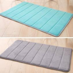 Non Slip Memory Foam Soft Bathroom Bedroom Bath Mat Floor Ru