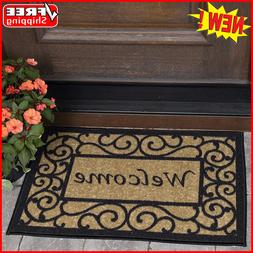 Outdoor Floor Welcome Mat Double Door Heavy Duty Large Coir