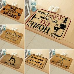 Outdoor Mat Letter Sweet Welcome Home Entrance Floor Rug Non