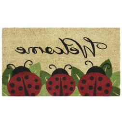 Achim Home Furnishings PCM1830LB6 Ladybug Printed Coir Door
