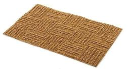 Premium Coconut Fibre Low Clearance Checker Pattern Coco Rug