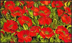 Toland Home Garden Red Poppies 18 x 30-Inch Decorative USA-P