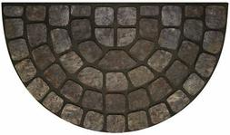 Achim Home Furnishings RRM1830GS6 Grey Stone Slice Raised Ru