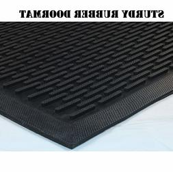 Rubber Doormat Entrance Rug Shoe Scraper Non Slip Door Mat I