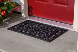 Kempf Rubber Scroll Doormat Rectangular weather recycled rub