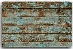 Rustic Old Barn Wood Door Mats Indoor Bathroom Kitchen Decor