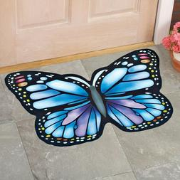Butterfly Shaped Rubber Door Mat Skid Resistant Backing Mach