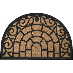 Evideco Sheltered Front Door Mat Natural Braided Coir Coco R