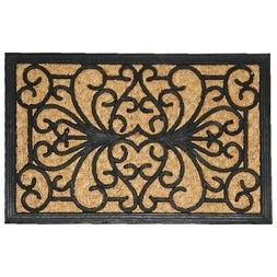 Evideco Sheltered Front Door Mat Sally Coir Coco Rubber Natu