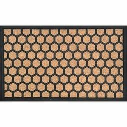Evideco Sheltered Printed Front Door Mat Hive Polyester Rug