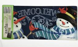 Snowman Welcome Sassafras Switch Mat by Evergreen Enterprise