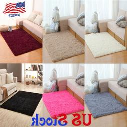 Soft Fluffy Carpet Door Area Rug Living Room Floor Bedroom M