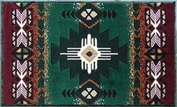Southwest Native American Door Mat Area Rug Design C318 Hunt