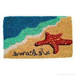 "Entryways Starfish Welcome Hand Made Coir Doormat 18"" x 30"""