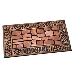 Stone & Pebbles Outdoor Welcome Mat for Front Door, by Colle