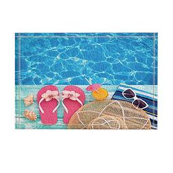 NYMB Summer Holidays in Beach Decor, Summer Flip Flops on Wo