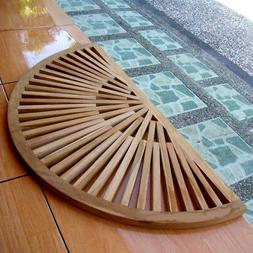 TEAK SUN BURST DOOR FLOOR MAT HOME SHOWER SPA BATH INDOOR OU